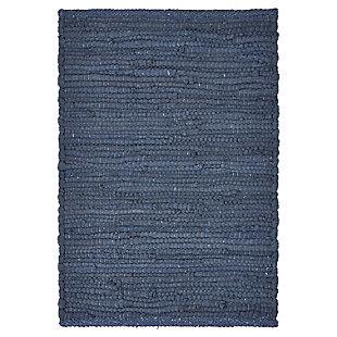 LR Home Bordered Indigo Placemats (Set of 4), Blue, large