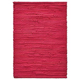 LR Home Solid Magenta Placemats (Set of 4), Red, large