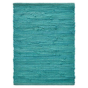 LR Home Solid Teal Placemats (Set of 4), , large