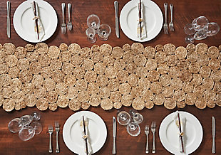 LR Home Concentric Jute Circle Table Runner, , rollover
