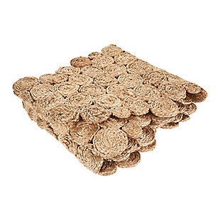 LR Home Concentric Jute Circle Table Runner, , large