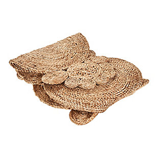 LR Home Connected Jute Circles Table Runner, , large