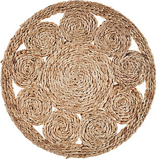 LR Home Bordered Braided Jute Placemats (Set of 2), , large