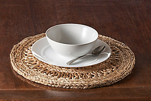 LR Home Detailed Braided Jute Placemat (Set of 2), , rollover