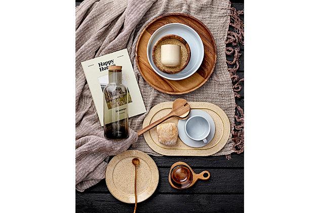 Bloomingville Acacia Wood Tapas Plates/Coasters (Set of 4 Pieces), , large