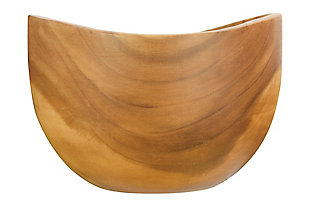 """Bloomingville 10"""" Round Carved Acacia Wood Serving Bowl, , large"""