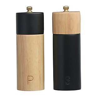 Bloomingville Two-Tone Rubber Sakt and Pepper Mills, , rollover