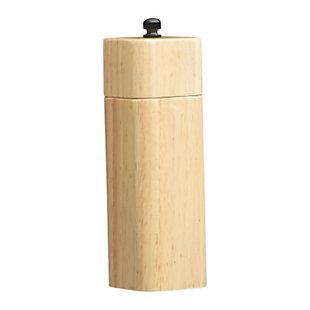 Creative Co-Op Rubber Wood Salt/Pepper Mill, , large