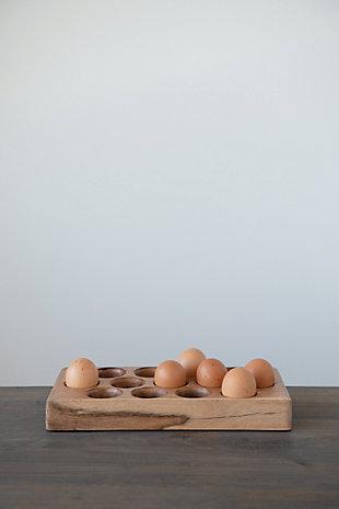 Creative Co-Op Acacia Wood Egg Tray, , rollover