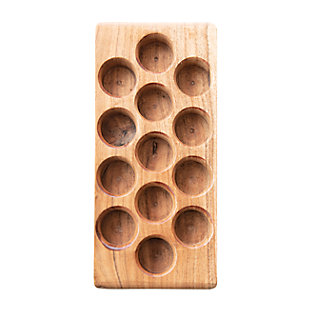 Creative Co-Op Acacia Wood Egg Tray, , large