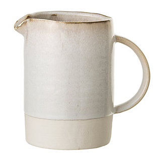 Bloomingville Distressed White Stoneware Carrie Pitcher, , rollover