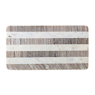 Bloomingville Beige Marble Cutting Board with White Stripe, , large