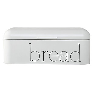 "Bloomingville White Metal ""bread"" Bin, , large"