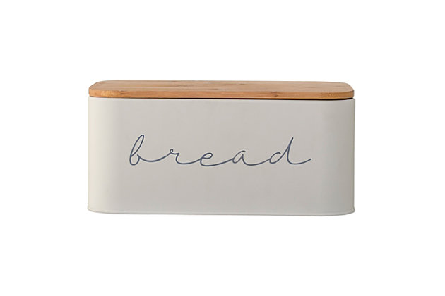 "Bloomingville Metal ""bread"" Bin with Bamboo Lid, , large"