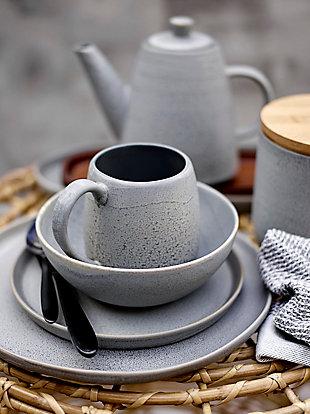 Bloomingville Glazed Grey Stoneware Teapot, , rollover