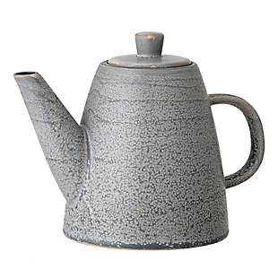 Bloomingville Glazed Grey Stoneware Teapot, , large