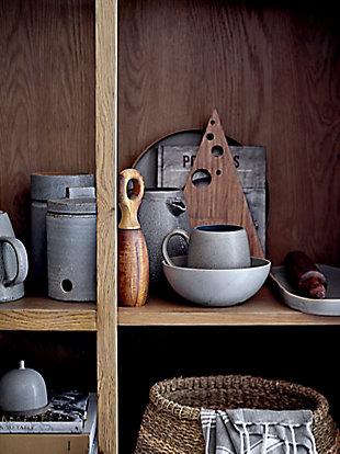 Bloomingville Glazed Grey Stoneware Teapot, , large