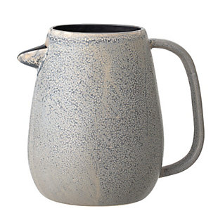 Bloomingville Glazed Grey Stoneware Pitcher, , large