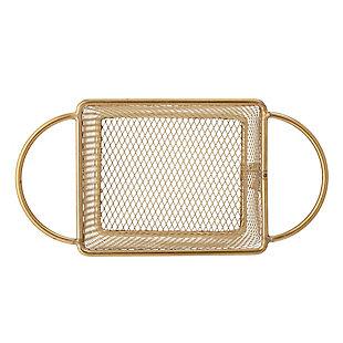 Bloomingville Gold Stainless Steel Mesh Basket, , rollover