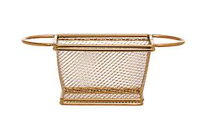 Bloomingville Gold Stainless Steel Mesh Basket, , large