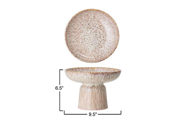 Bloomingville Brown Stoneware Footed Bowl, , large
