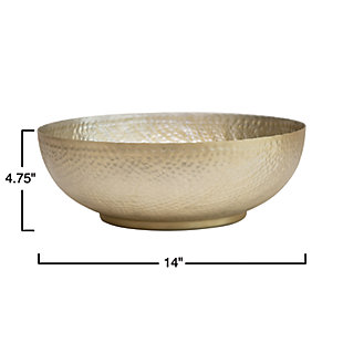 Bloomingville Gold Hammered Aluminum Bowl, , rollover