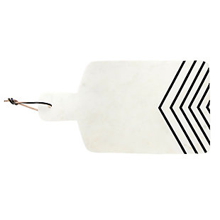Bloomingville White and Black Chevron Marble Cheese/Cutting Board, , large