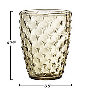 Bloomingville Olive Embossed Recycled Drinking Glass, , large