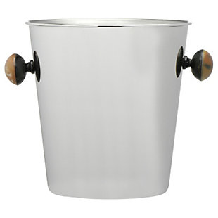 Bloomingville Quart Stainless Steel Ice Bucket with Horn Handles, , large