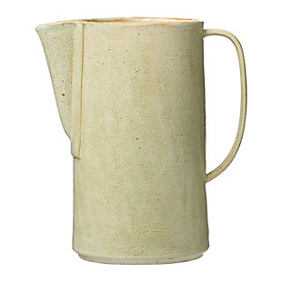 Creative Co-Op Celadon Stoneware Pitcher, , large