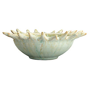 Creative Co-Op Celadon Stoneware Sunburst Shaped Serving Bowl, , large