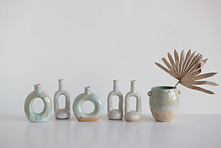 Creative Co-Op Celadon Stoneware Crock, , rollover