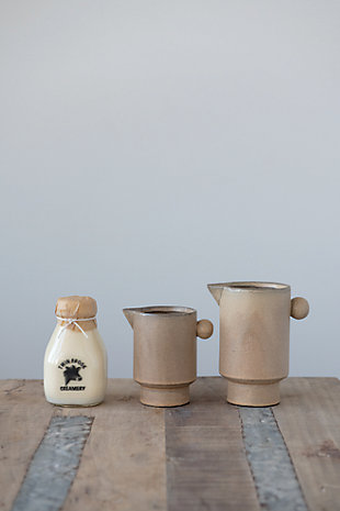 Creative Co-Op Stoneware Pitcher, , rollover