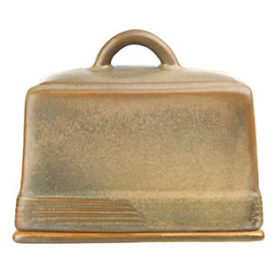 Creative Co-Op Stoneware Butter Dish, , large