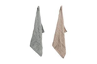 Creative Co-Op Woven Linen Striped Tea Towel, Set of 2 Colors, , large