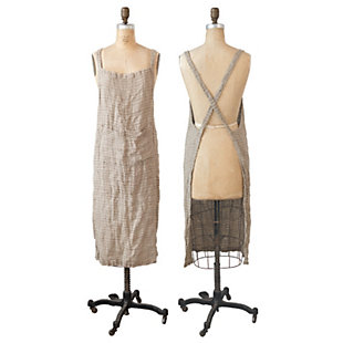 Creative Co-Op Brown Woven Linen Striped Apron, , large