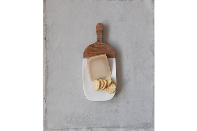 Creative Co-Op Marble Entertaining Board with Handle, , large