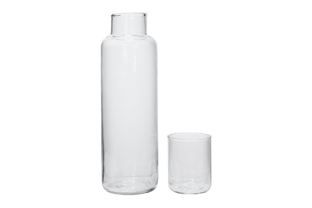 Creative Co-Op Recycled Glass Decanter (Set of 2), , large