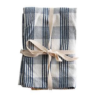 Creative Co-Op Cotton Check tea Towels (Set of 3), , large