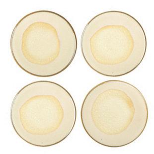 Creative Co-Op Stoneware Reactive Glaze Coasters, Set of 4, , large