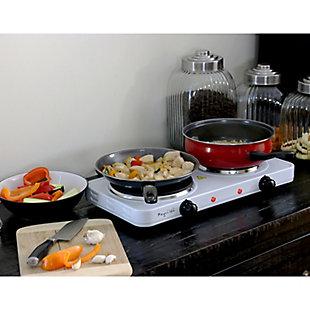 Megachef Portable Dual Burner Cooktop Buffet Range, , rollover