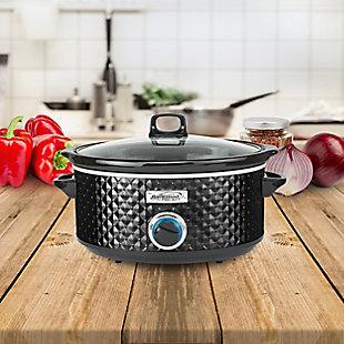 Brentwood Select 7 Quart Slow Cooker, Black, large
