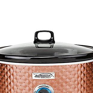 Brentwood Select 7 Quart Slow Cooker, Black/Copper, large