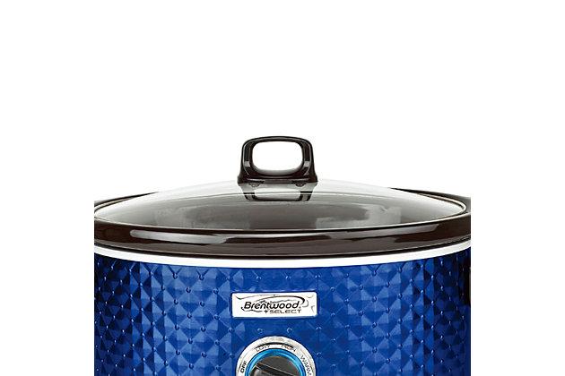 Brentwood Select 7 Quart Slow Cooker, Black/Blue, large