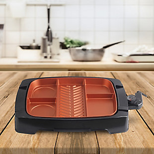 Brentwood Multi-Portion Nonstick Indoor Grill, , rollover