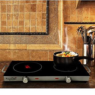 Megachef Ceramic Double Cooktop, , rollover