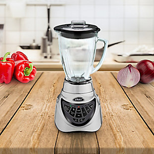 Oster Pro 500 900 Watt 7 Speed Blender in Chrome with 6 Cup Glass Jar, , rollover