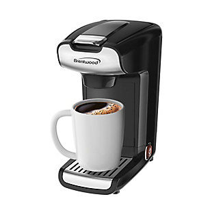 Brentwood 10 Ounce K-Cup Single Serve Coffee Maker in Black, , large