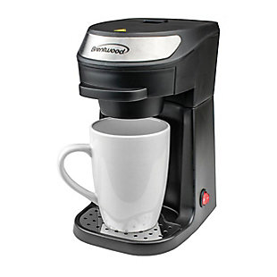 Brentwood Single Serve Coffee Maker in Black with Mug, , large