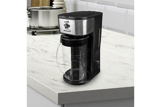 Brentwood Iced Tea and Coffee Maker and 64 Ounce Pitcher, Black, large